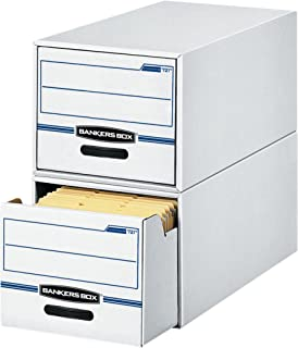 Bankers Box 00722 STOR/DRAWER File Drawer Storage Box, Legal, White/Blue (Case of 6)