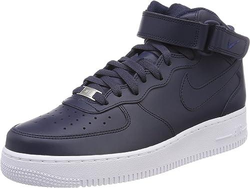 Nike Air Force 1 Mid 07, Baskets Hautes Homme, Bleu (Obsidian ...