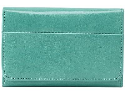 Hobo Jill Trifold Wallet (Seafoam) Clutch Handbags