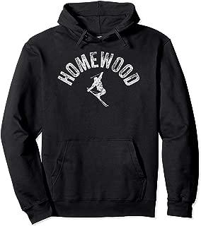 Ski Homewood Vintage California Skiing Cool Cali Skier Gear Pullover Hoodie