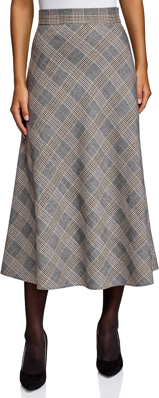 oodji Collection Women's A-Line Midi Skirt