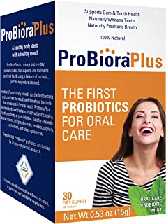 ProBioraPlus Probiotics (formerly EvoraPlus) Supports Tooth and Gum Health | Freshens Breath | Naturally Whitens Teeth | 30 count