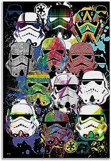 Silver Buffalo SW11151V Star Wars Classic 4-6 Storm Troopers Helmet Canvas Wall Art