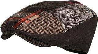 Wonderful Fashion PoPoShop6 Men's Multi Pattern Patchwork Wool Blend newsboy IVY Golf Hunting Hat