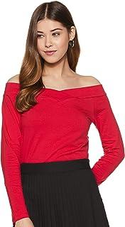 Amazon Brand - Symbol Women's Solid Slim Fit Full Sleeve cotton T-Shirt