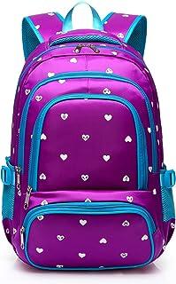 e21e7a3dc2 Hearts Print School Backpacks For Girls Kids Elementary School Bags Bookbag