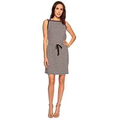 Three Dots Sleeveless Tie Front Dress (Black) Women