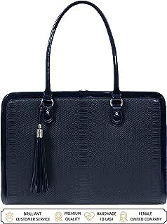 BFB Laptop Bag for Women – 17 inch Computer Briefcase Shoulder Bag - Navy