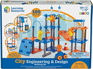 Learning Resources LER2843 City Engineering & Design Building set