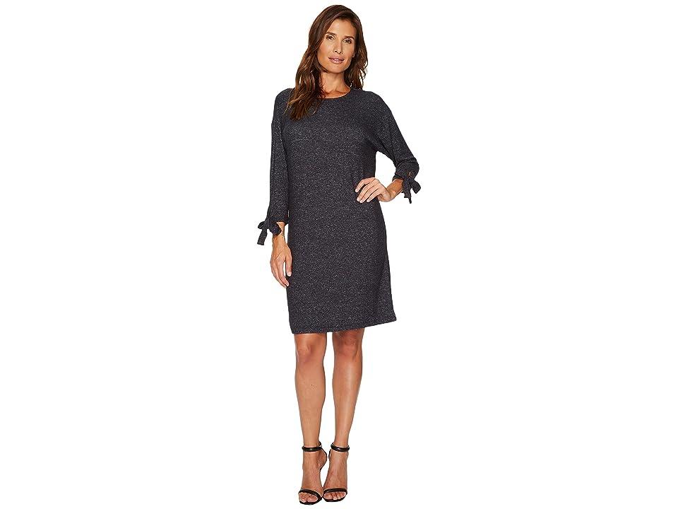 B Collection by Bobeau Lanna Tie Sleeve Knit Dress (Charcoal Grey) Women