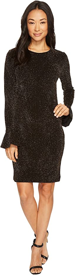 MICHAEL Michael Kors - Bodycon Flounce Sleeve Dress