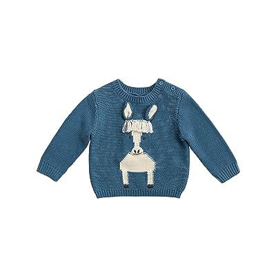 Stella McCartney Kids Horse Sweater (Infant) (Blue) Boy