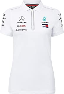 Mercedes Benz Petronas AMG Formula 1 Women's 2018 Driver Team White Polo Shirt