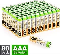 GP Batterien AAA (Micro, LR03) Super Alkaline Technologie, Vorratspack 80 Stück (8X 10er Pack)
