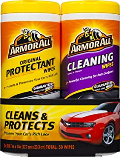 Armor All Original Protectant & Cleaning Wipes Twin Pack (2x25 count)