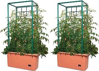 Hydrofarm 10 Gallon Self Watering Tomato Trellis Garden on Wheels, Pair | GCTR