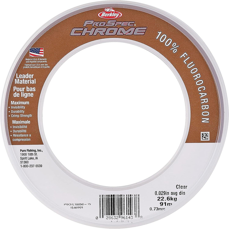 Berkley ProSpec Chrome 100% Leader Fishing Fluoro Fluorocarbon ! Super beauty product restock quality top! Free Shipping New