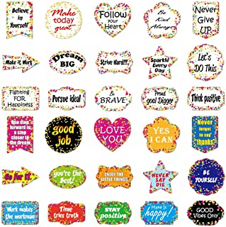 Ratgoo 30 Pcs Students and Office Workers Inspirational Short Sentence Vinyl Stickers for Desk Computer MacBook Laptop Water Bottle Hydro Flask Car Bike Bicycle Motorcycle Helmet Bumper Luggage Case