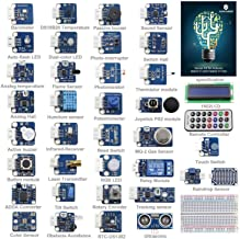 SunFounder Ultimate Sensor Kit for Arduino R3 Mega2560 Mega328 Nano - Including 98 Page Instructions Book