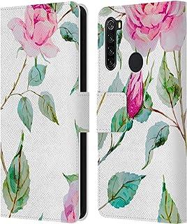 オフィシャル Haroulita ソーン フラワーミックス Xiaomi Redmi Note 8T 専用レザーブックウォレット カバーケース
