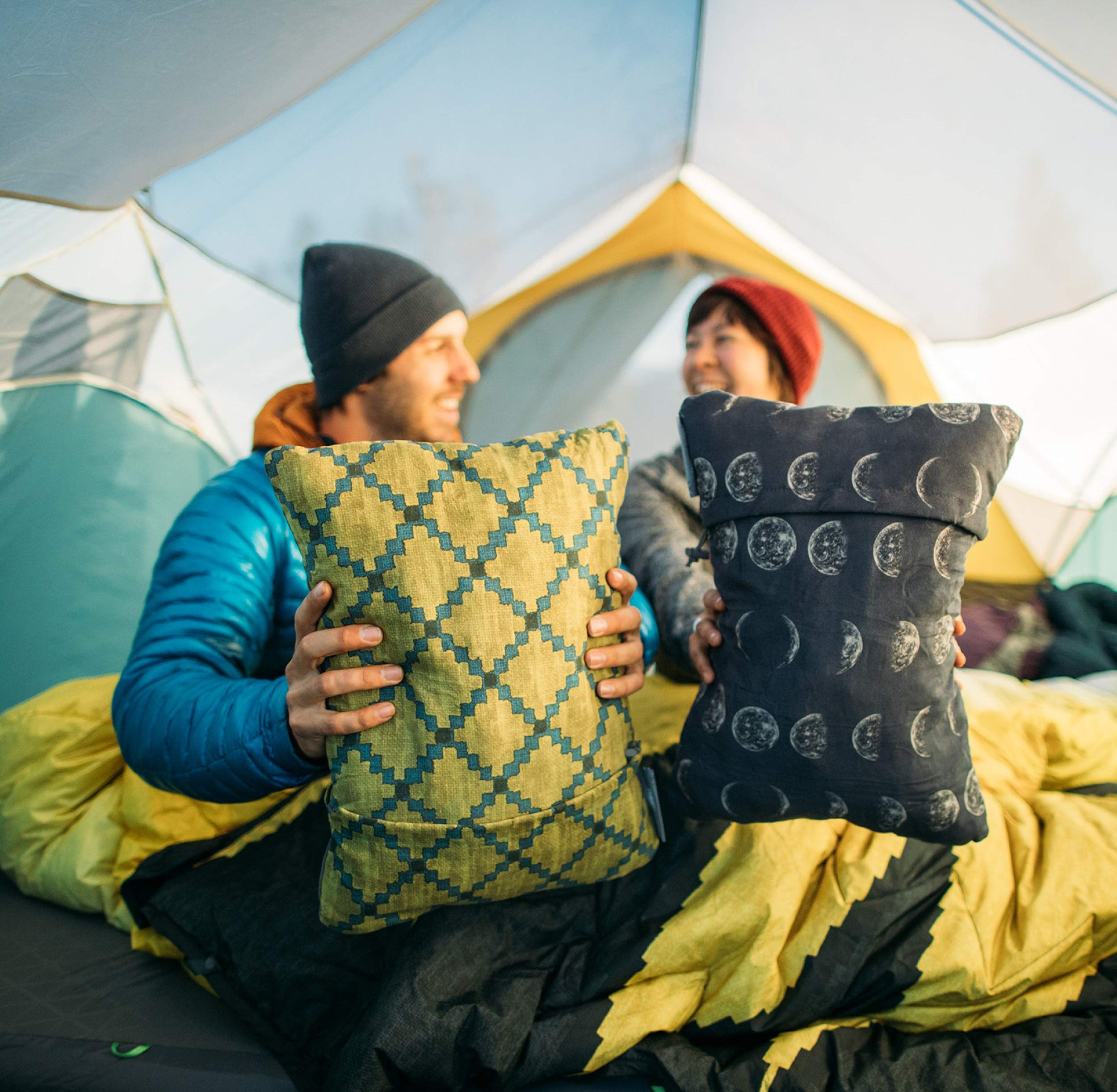 Backpacking Airplanes and Road Trips Renewed Therm-a-Rest Compressible Travel Pillow for Camping