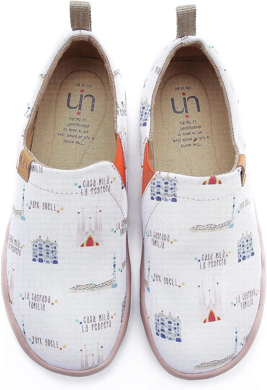 UIN Women's Art City Simple Canvas Barcelona shoes White