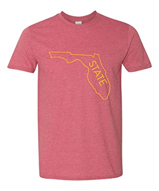 Campus Originals Florida State Outline Men's Super Soft Vintage T-Shirt