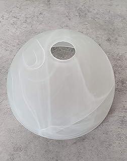 Pantalla de lámpara Prestige E14 para lámpara de techo LED, pantalla de cristal, pantalla de repuesto, pantalla de cristal para lámpara colgante, lámpara de mesa, foco
