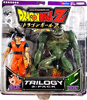 Jakks Pacific Year 2006 DragonBall Z Animated Series Trilogy 2 Pack 6 Inch Tall Action Figure Set - GOKU and YAKON