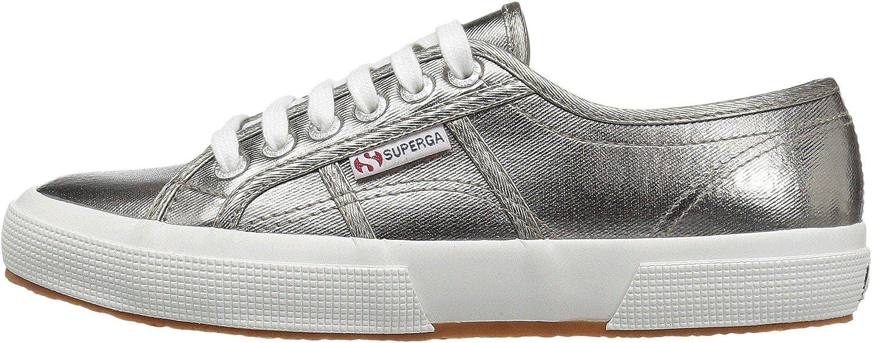 Superga Cotmetu Metallic Low-top Lace Up Fashion Sneaker Grey/SIL