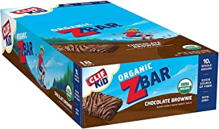 Clif Kid ZBAR - Organic Granola Bars - Chocolate Brownie - (1.27 Ounce Energy Bars, Kids Snacks, 18 Count)