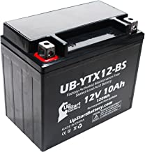 Replacement for 2002 Suzuki VL800 Intruder Volusia, 800 CC Factory Activated, Maintenance Free, Motorcycle Battery - 12V, 10Ah, UB-YTX12-BS