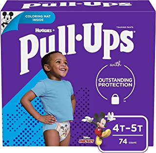 Pull-Ups Learning Designs Boys` Training Pants, 4T-5T, 74 Ct