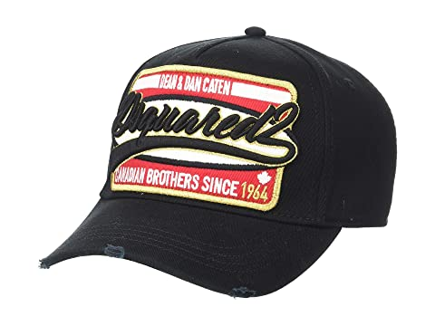 DSQUARED2 Gold Trim Logo Baseball Cap