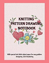 Knitting Pattern Drawing Notebook: With Knit Stitch Styled Paper For Easy Pattern Designing And Visualizing, Pink Design