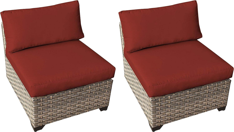 TK Classics Monterey Armless Sofa Per Spring new work 2021 model 2 Box Terracotta