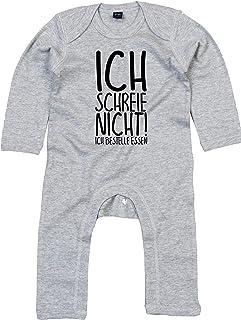 Kleckerliese Baby Strampler Schlafanzug Overall Sprüche Jungen Mädchen Motiv Ich Schreie Nicht! Ich bestelle Essen