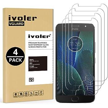 ivoler [4 Unidades] Protector de Pantalla para Motorola Moto G5s ...