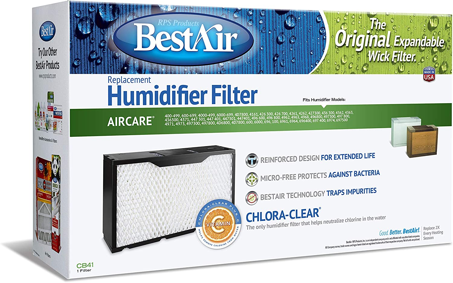 At the price BestAir CB41 price Essick 1041 Replacement Wick Humidifier Fil Paper
