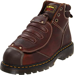 Dr. Martens Men's Ironbridge MG ST Steel-Toe Met Guard Boot,Teak,10 UK/11 M US