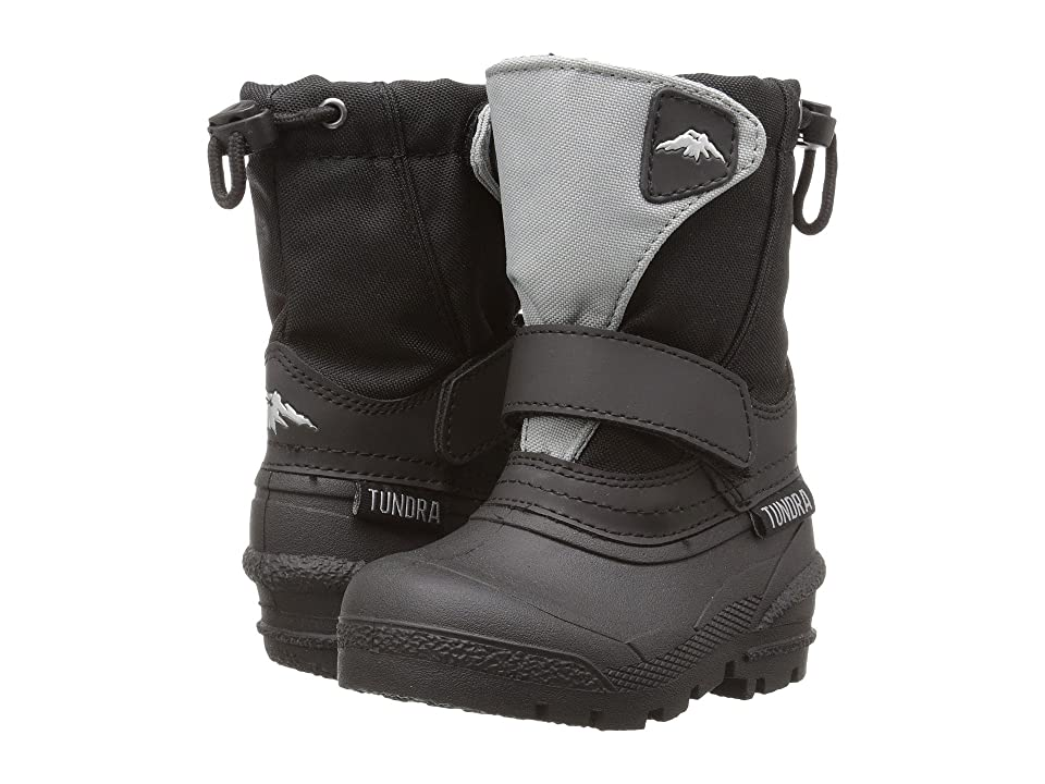 Tundra Boots Kids Quebec (Toddler/Little Kid/Big Kid) (Black/Grey) Boys Shoes