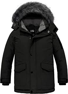 Brave Soul Boys Hooded Jackets Kids Children Back to School Casual Thick Lined Parka Long Sleeve Hood Jacket Lightweight Outerwear Padded Jacket Puffer Puffa Warm Winter Quilted Coat