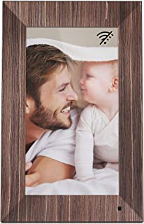 NIX Lux 13-Inch Digital Photo Frame X13B Wood (Non-WiFi) - Wall-Mountable Digital Frame with 1920x1080 FHD Display, Motion Sensor, USB and SD Card Slots and Remote Control, 8 GB USB Stick Included