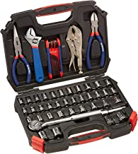 """WORKPRO 52-Piece Hand Tool & Socket Set (Metric & SAE Size, 3/8"""" Drive), W003020A"""