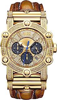 ساعة كرونوغراف فانتوم مرصعة بعدد 196 ماسة من اصدار الذكرى السنوية العاشرة من جيه بي دبليو للرجال