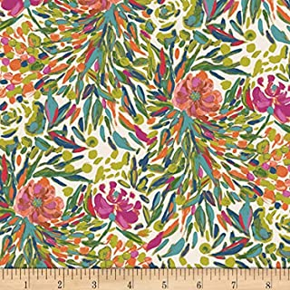 Art Gallery Bloomsbury Writer's Garden Petal Green, Quilting Fabric by the Yard
