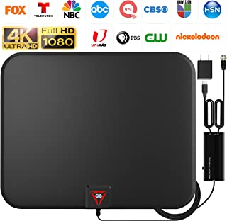 GESOBYTE Amplified HD Digital TV Antenna Long 200+ Miles Range - Support 4K 1080p Fire tv Stick and All Older TV's - Indoo...
