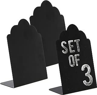 MyGift Set of 3 Black Decorative Write On Wedding Signs/Mini Erasable Chalkboards/Cafe Specials Boards
