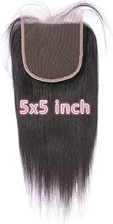 Beata Hair 5x5 Lace Closure Straight 100% Human Hair Closure with Baby Hair 10inch