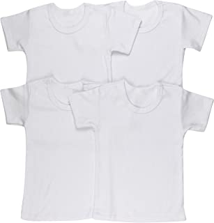 ToBeInStyle Girls' 4 Pack Comfy Cozy T-Shirt with Expanded Lap Shoulder